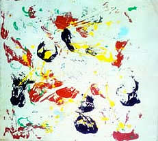 jean marc tonizzo, oeuvre sur toile. abstract