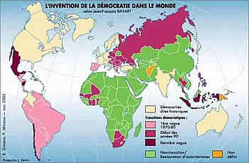 Democratie, carte du monde démocratique