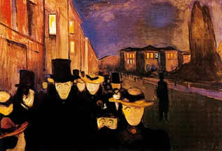 Edward Munch, Passants le soir