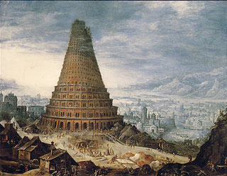 Artiste flamand - La Tour de Babel - 1587