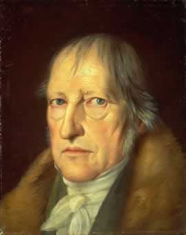 Hegel, philosophe allemand, portrait